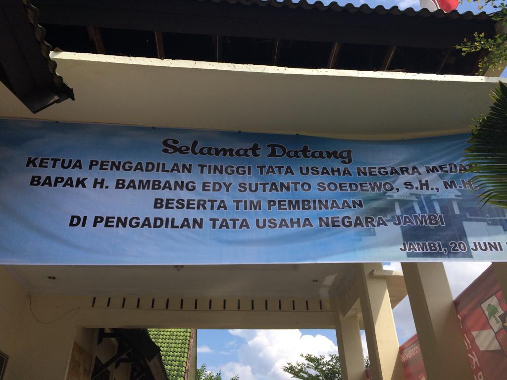 Pembinaan Ketua PTTUN Medan di PTUN Jambi