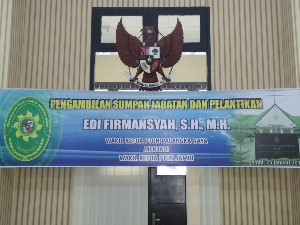 Pelantikan Wakil Ketua PTUN Jambi