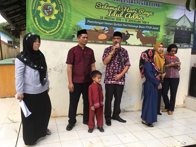 Acara Qurban Memperingari Hari Raya Idul Adha di PTUN Jambi